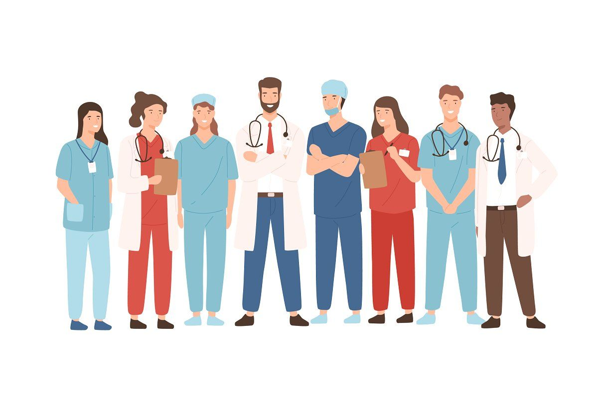 Hospital team in 2020 | Cartoon styles, Medical, Banner ...
