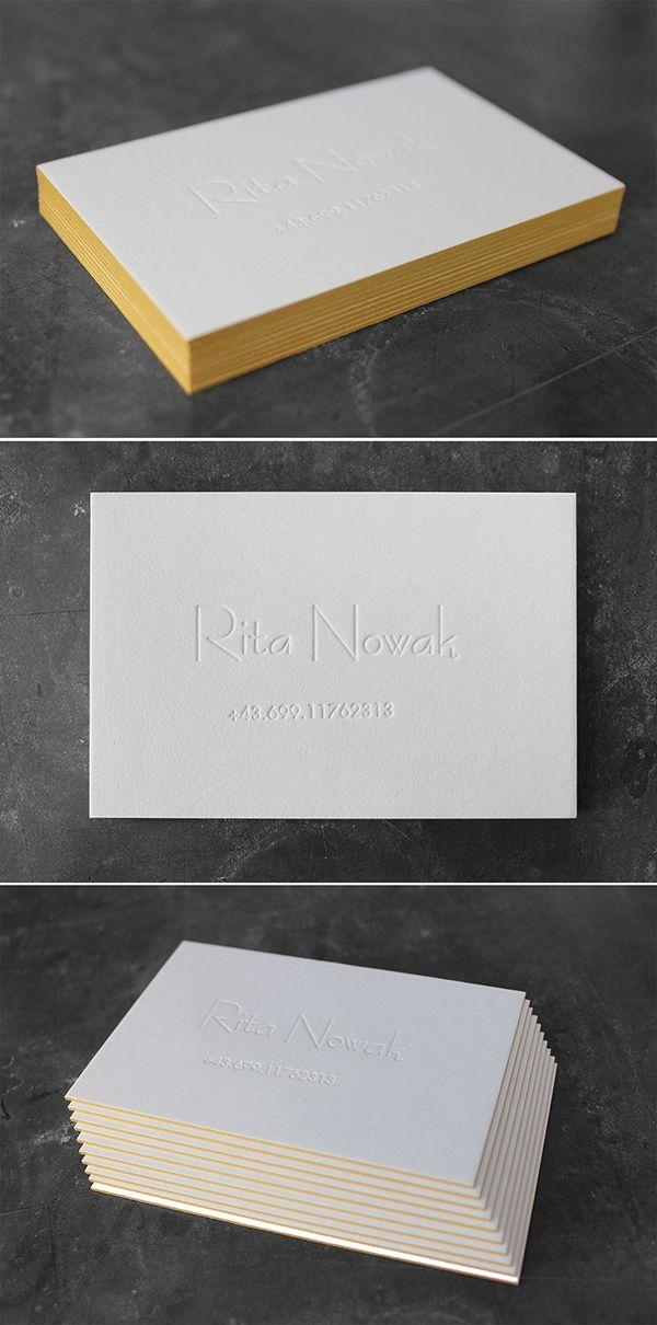 Exquisite Letterpress Visitenkarten Mit Tiefprägung Ohne