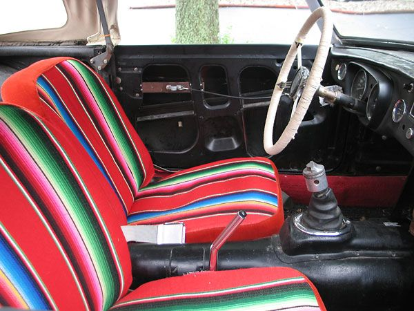 Custom Seat Upholstery Made From A Mexican Blanket Ih