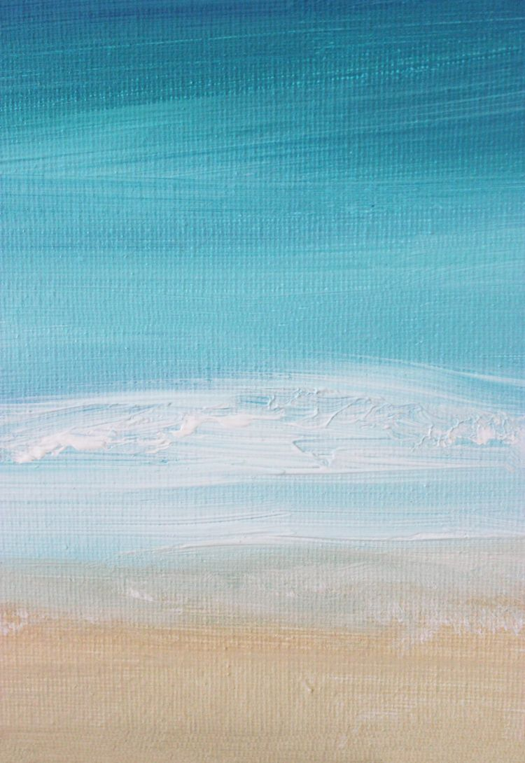 Diy Painting 15 Minute Ocean Scene Abstract Ocean Painting
