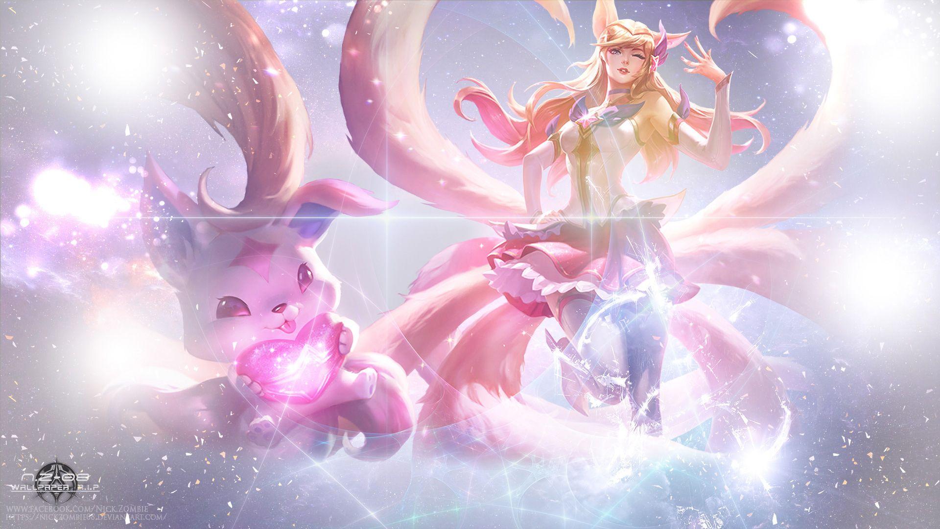 Star Guardian Ahri By Nickzombie08 Hd Wallpaper Background Fan Art Artwork League Of Legends Lol Bilder