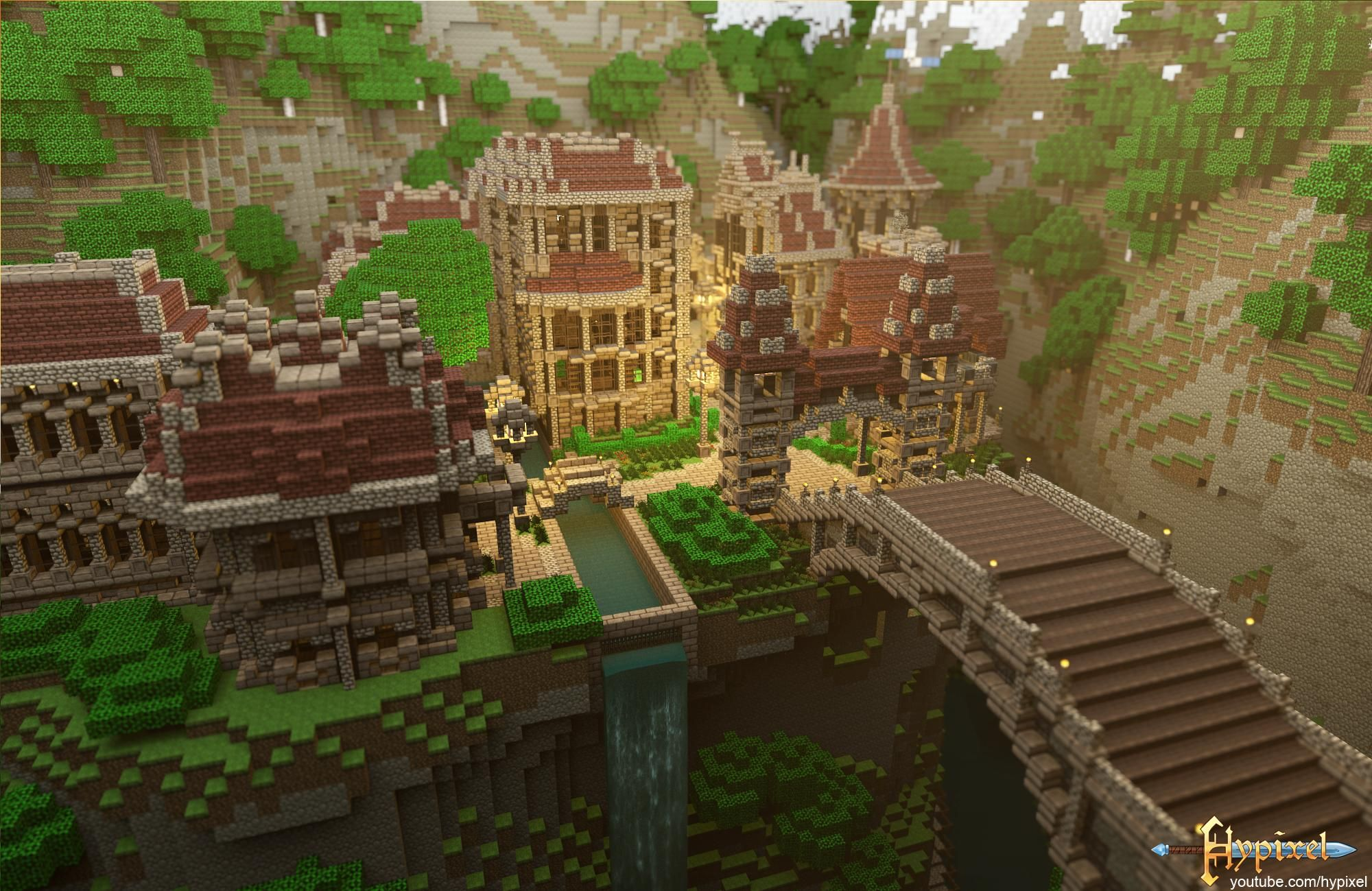 the most awesome images on the internet | minecraft castle, bridge