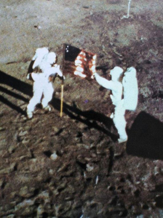 1960-69 Footprints On The Moon Original Apollo 11 Rare Poster