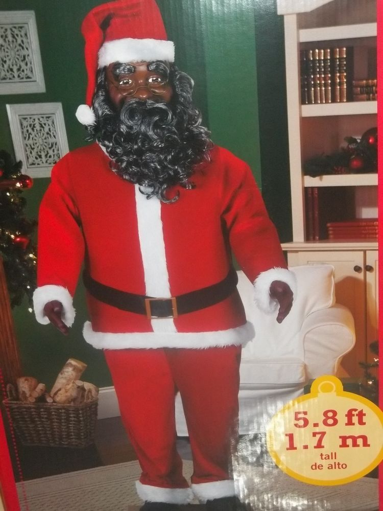 Animated 5 8 Quot Life Size Dancing African American Santa Claus New Walmart Life Size