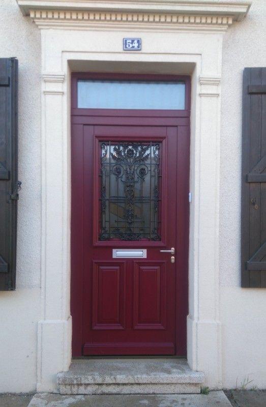 Portes d\u0027entrée bois avec grille porte d\u0027entrée Pinterest - pose d une porte d entree