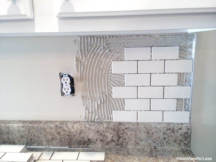 how to install a kitchen backsplash how to nest for less™ from Diy