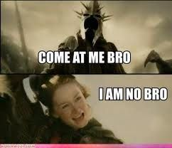 Eowyn and the Witch King...