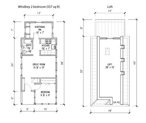 Whidbey Floor Plans By Tumbleweed Tiny House Company, Via Flickr