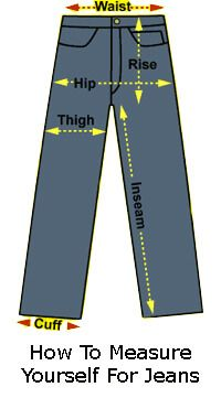 How To Measure Yourself For Jeans Jeans Size Chart Lucky Jeans Mens Jeans