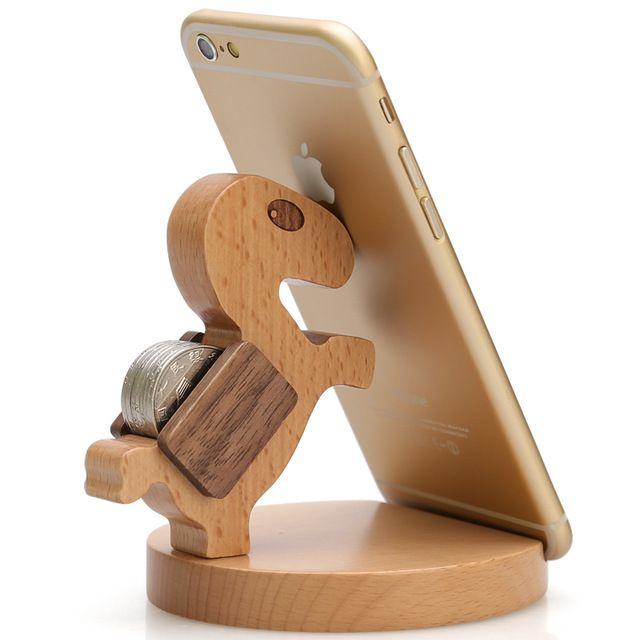 support de t l phone portable cadeau d 39 anniversaire en bois cheval cellulaire porte photo. Black Bedroom Furniture Sets. Home Design Ideas