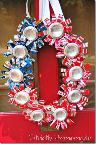 4th of July Recycled Can Wreath - Use Budweiser & Bud Light cans!