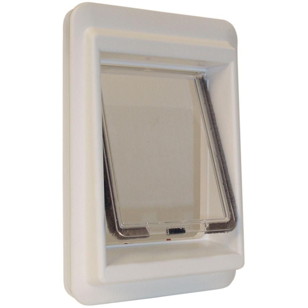 Ideal Pet 7 in. x 9 in. Small Electronic Cat Flap Pet Door with Magnetic E-Collar-CFE - The Home Depot