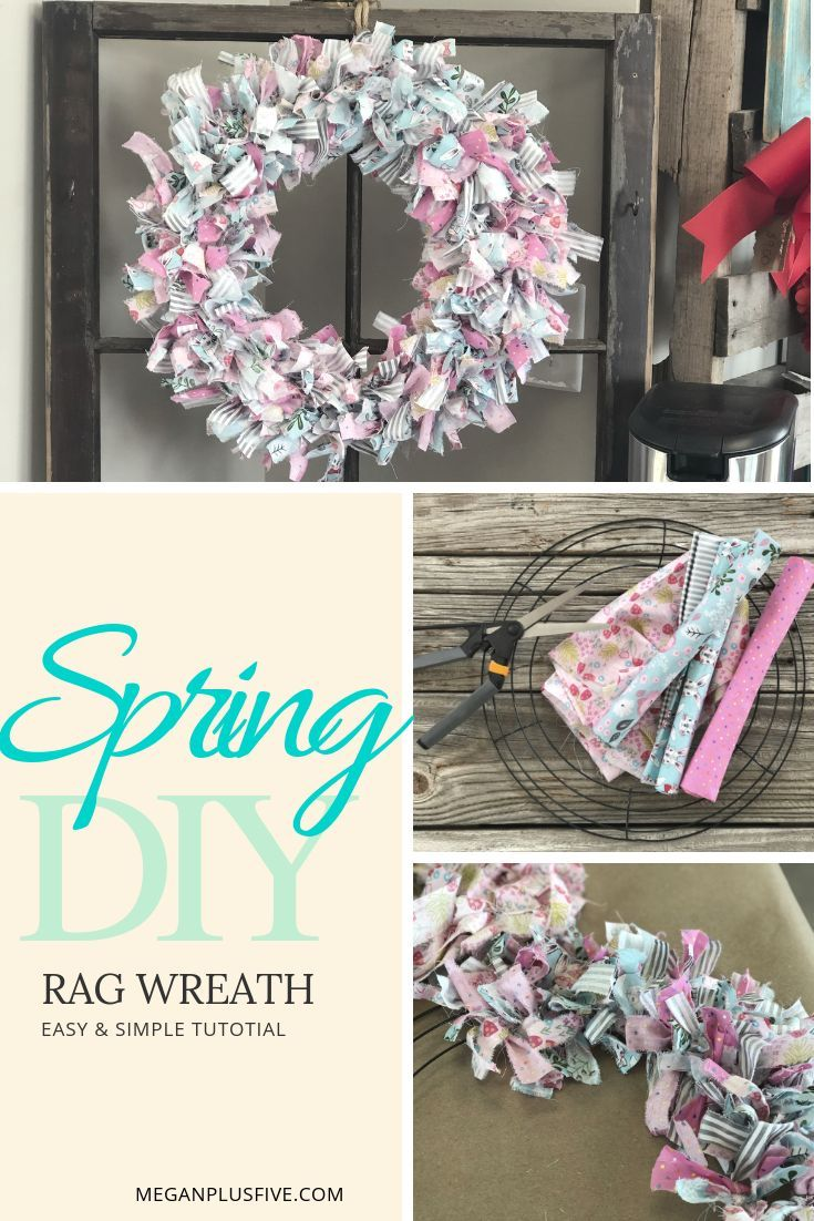 Photo of Super simple DIY, how to make a tied rag wreath for SPRING — Megan plus FIVE