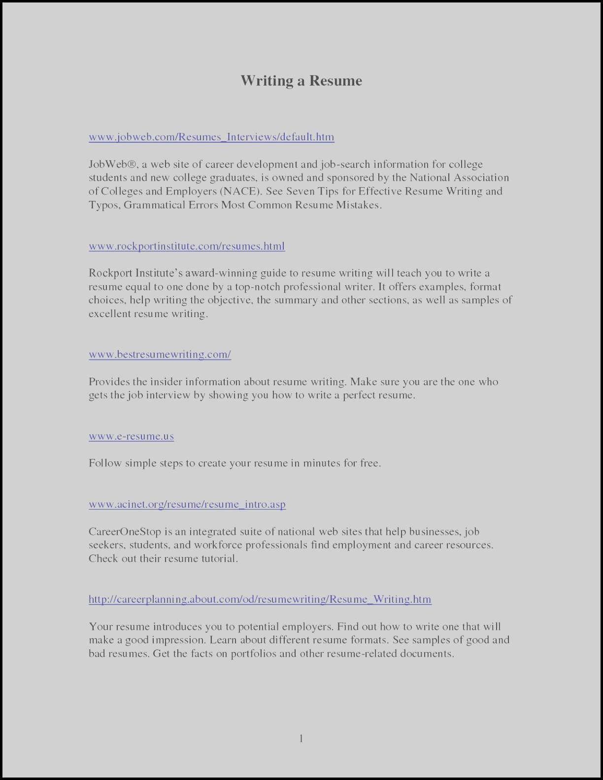 National Resume Writers Association New Resume Writing Objective