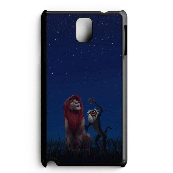 Lion King Simba Gravity Of The Wall Galaxy Nebula Samsung Galaxy Note 3 Case