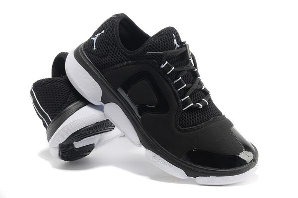 Black-White-Mens-Air-Jordan-Mesh-Running-Nike-