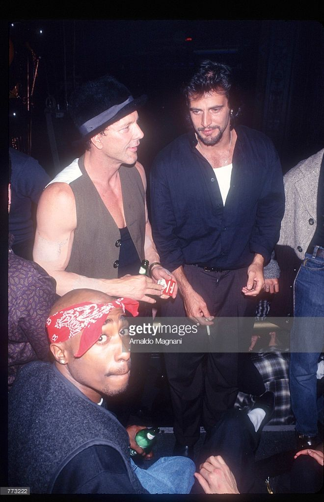 Rap Artist Tupac Shakur And Other Celebrities Attend A