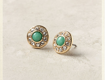 Green & Gold Earrings - Anthropology.