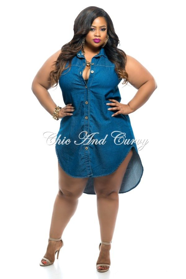 Chic and curvy ,plus size blue jean dress | A+ IN FASHION for my ...