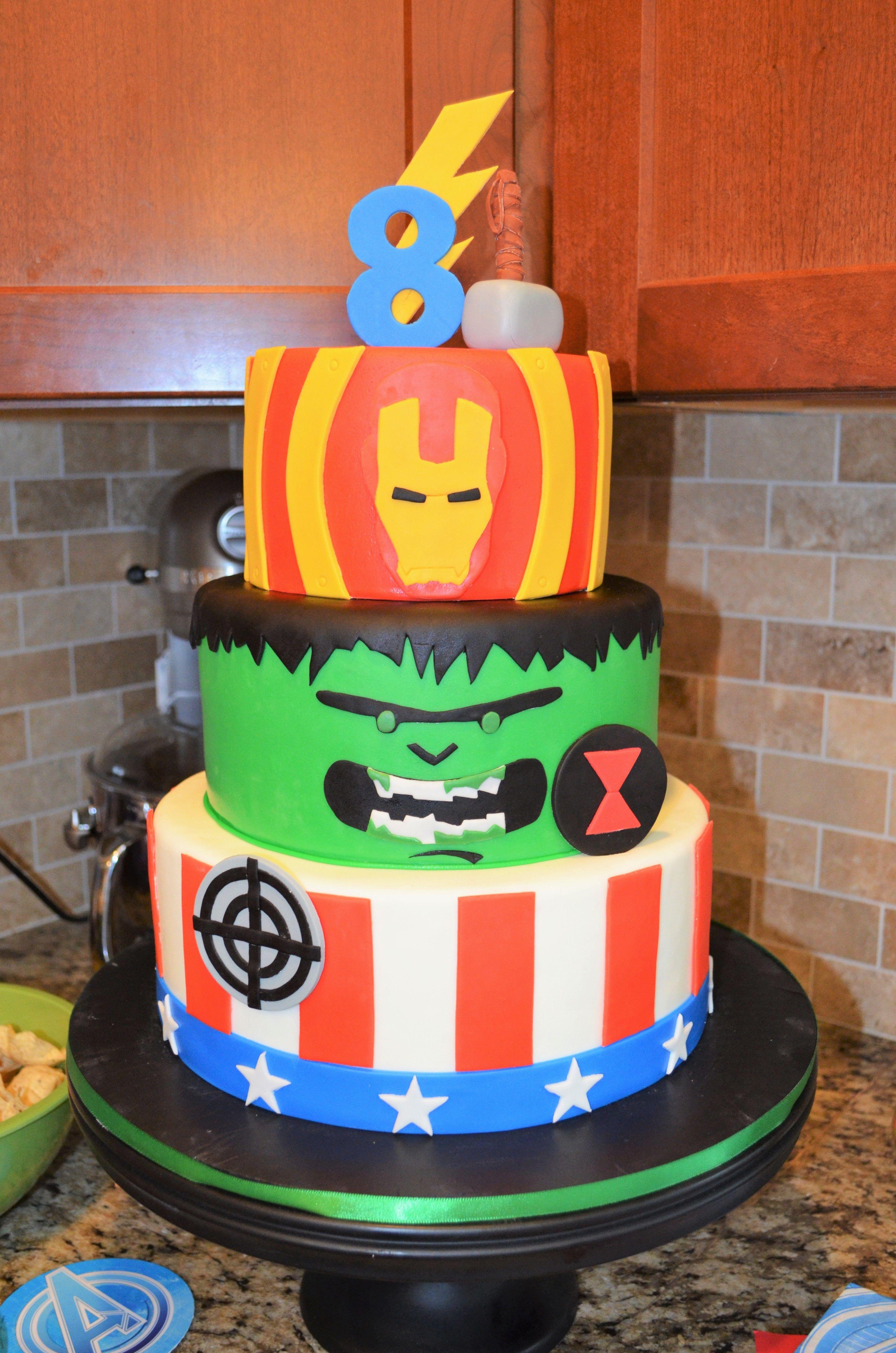 Avengers birthday cake childrens birthday cakes