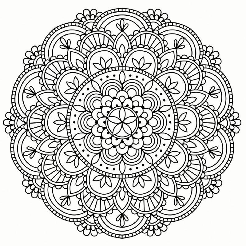 Colouring Pages Mandala Coloring Mandala Coloring Pages Mandala Printable