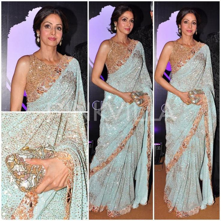 sridevi in manish malhotra saree designer sarees