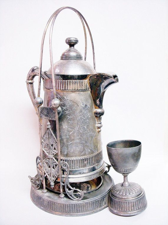 PAIRPOINT TIPPING PITCHER with Goblet Victorian by DecadesAntiques