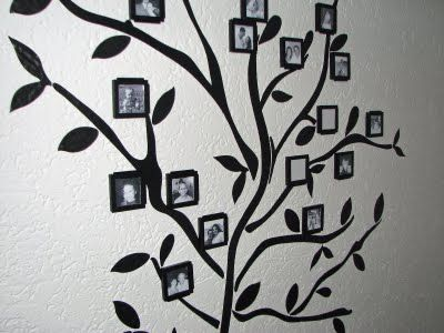 Family Tree displayed on the wall