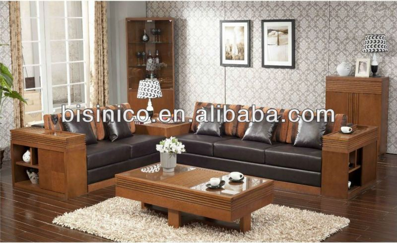 Relaxing Living Room Solid Wood Sofa Set Southeast Asian