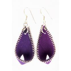 Recycled zippers as earrings? So cute! Globe Hope