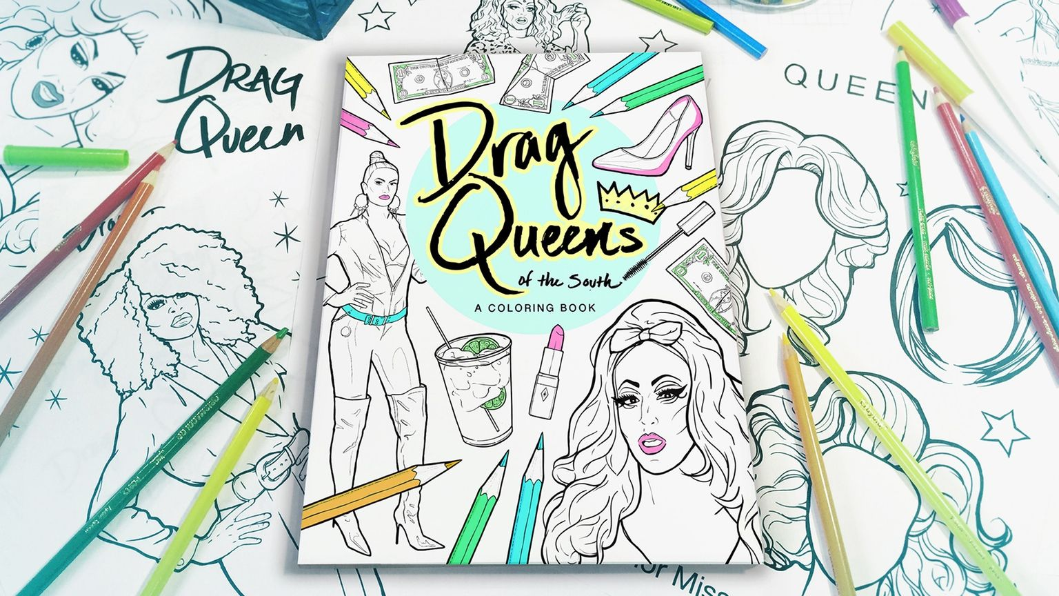new #kickstarter project #crowdfunding Make 100: Drag Queens of the South: A Coloring Book by Kasten McClellan Searles
