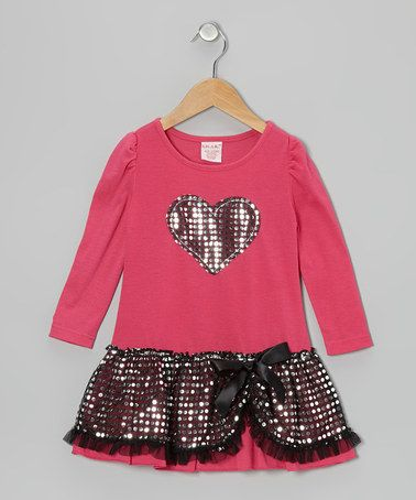 Take a look at this Pink Sequin Heart Dress - Toddler & Girls by S.W.A.K. on #zulily today! 10.00 from 22.00