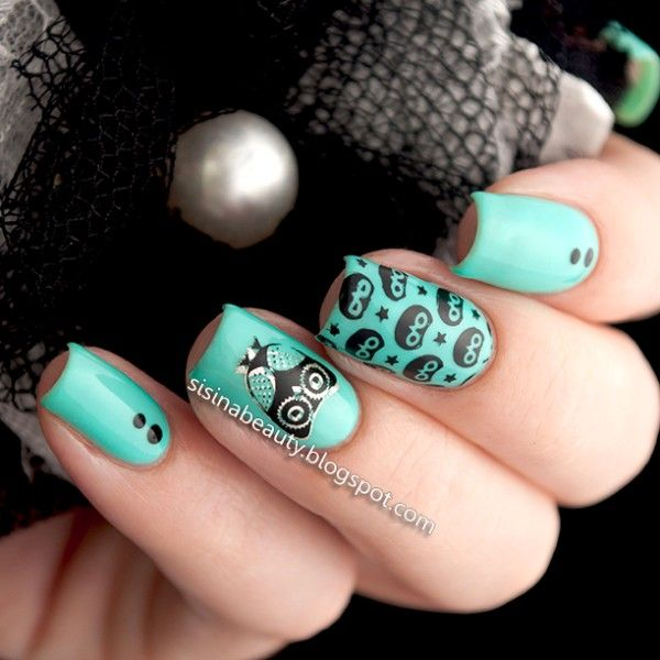 $1.20 Cute Owls Nail Art Stamping Template Image Plate BORN PRETTY ...