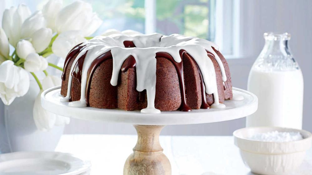 Triple Chocolate Buttermilk Pound Cake Recipe Recipe Pound Cake Recipes Desserts Delicious Chocolate