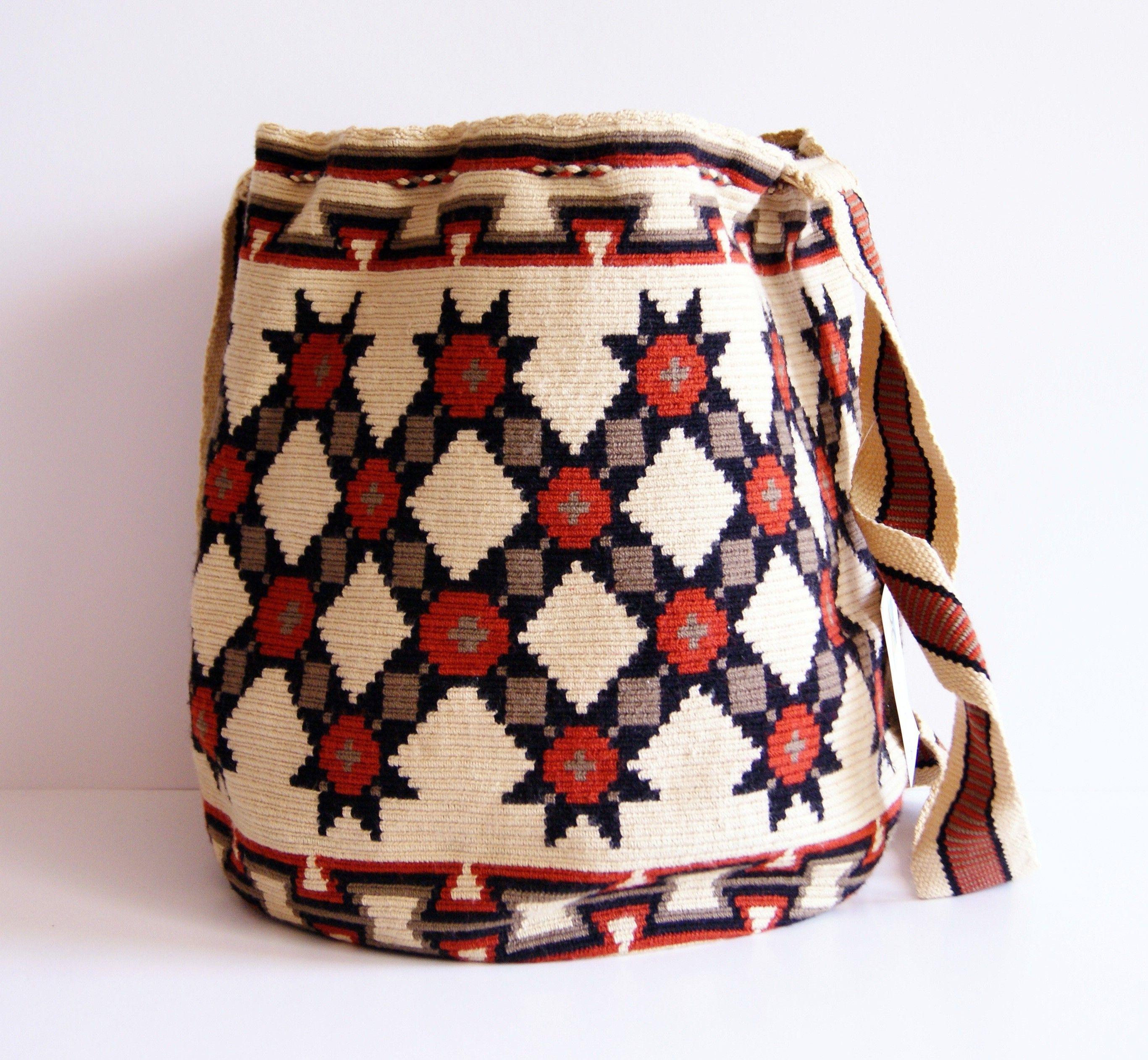 Wayuu One Tread Large Bag   bolso crochet wayuu   Pinterest   Tasche ...