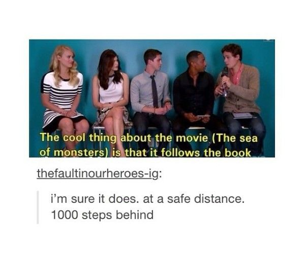 Percy Jackson The Sea Of Monsters Was Much Closer To The Second