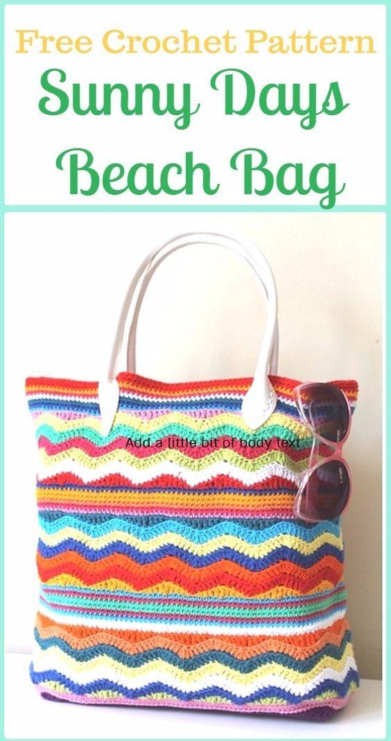 Just Be Crafts: Crochet Sunny Days Beach Bag Free Pattern | Crochet ...