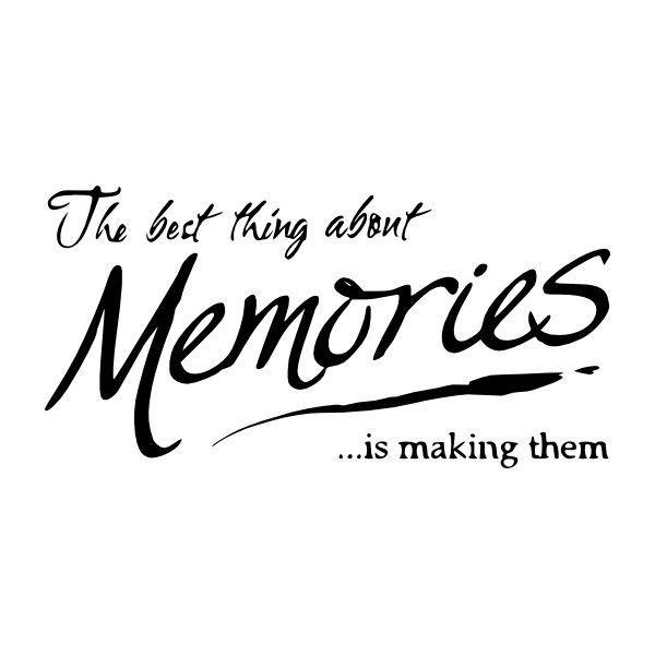 Making Memories Vinyl Wall Quote Custom Cutz Quotes