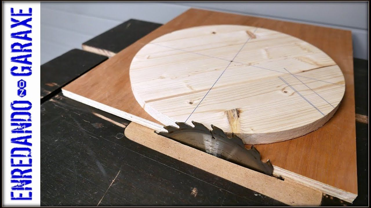 Table Saw Circle Jig Youtube Woodworking Woodworking Shop Projects Table Saw Jigs