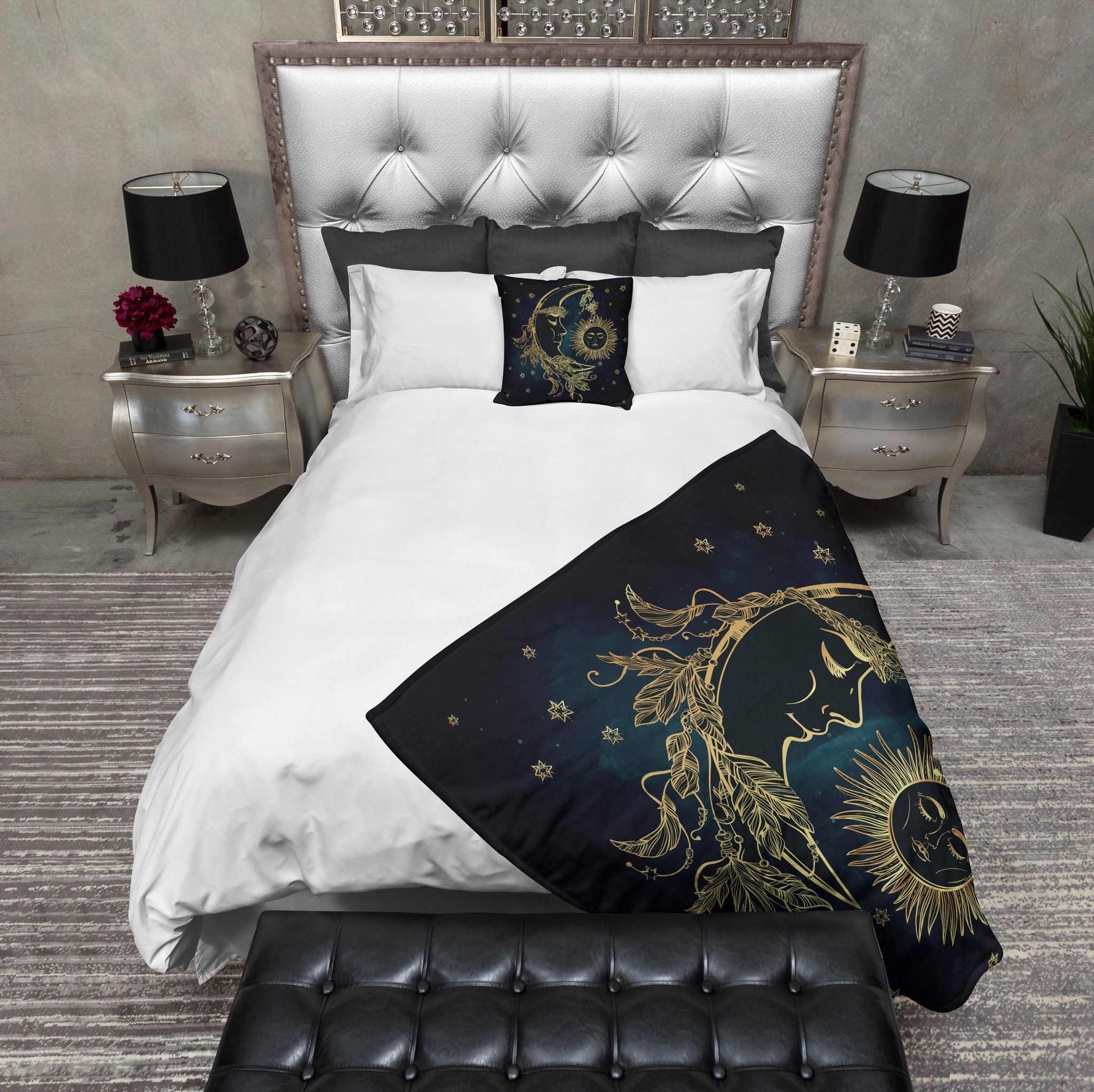 boho duvet cover lifestyle new covers white floral products zollinger holli