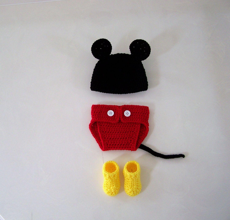 Lujo Crochet Ratón Patrón De Cubierta Del Pañal Minnie Fotos - Ideas ...