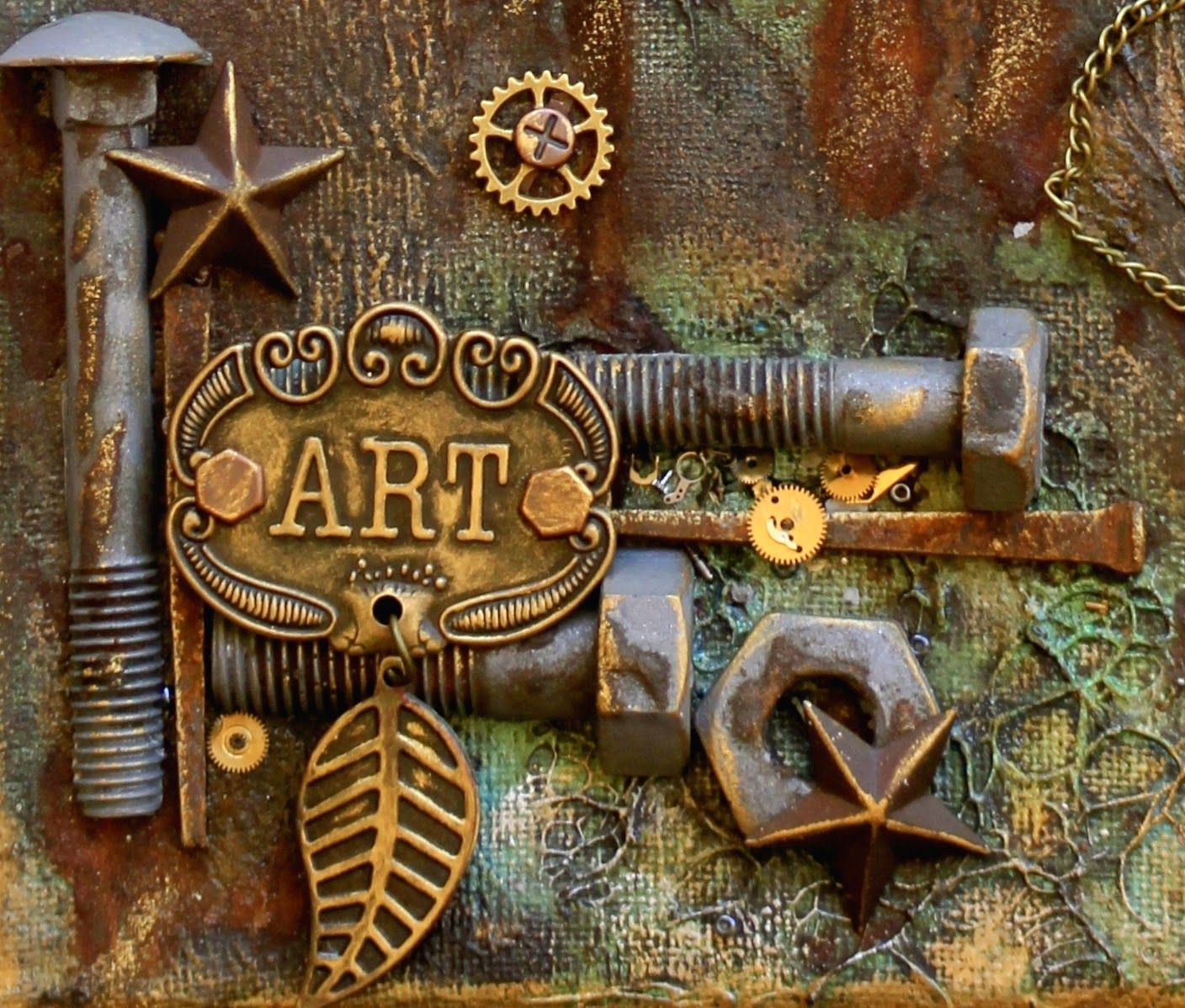 Scrapping On The Edge: Steampunk Style Mixed Media Canvas - Flying ...