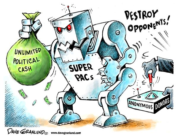 Super PACs Make Donations at an Astounding Level