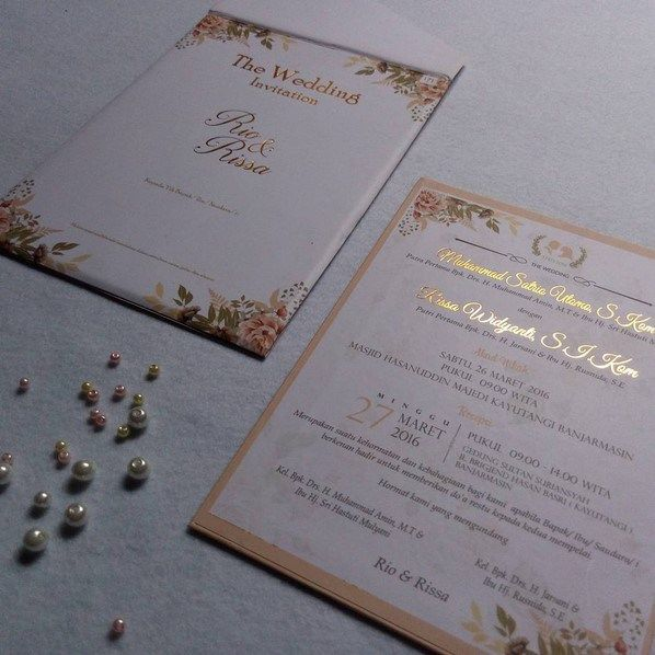 Contoh Undangan Pernikahan Elegan Simple Minimalis Invitaciones In