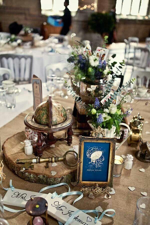 Vintage wedding wedding inspiration decor pinterest hochzeit deko tischdeko hochzeit - Alice im wunderland deko ...