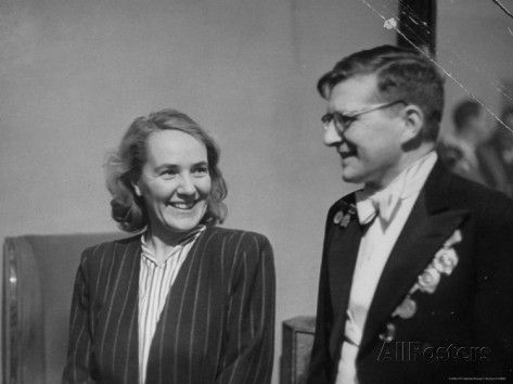 Dmitri Shostakovich And His Wife Premium Photographic Print Thomas D Mcavoy Allposters Com Classical Music Composers Dmitri Shostakovich 20th Century Music