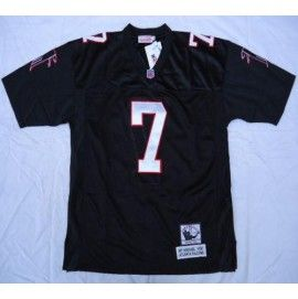 Nike Atlanta Falcons #7 Michael Vick Black Throwback Stitched NFL ...