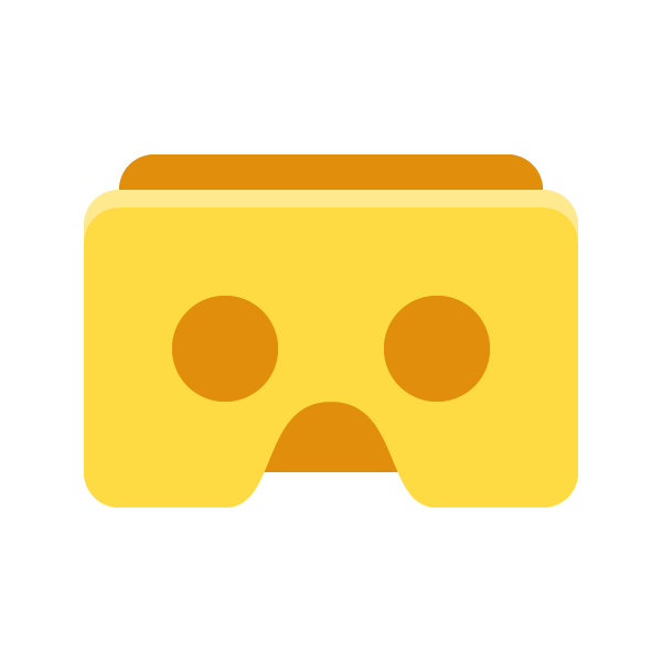 How To Create A Cardboard Vr Headset Icon Vandelay Design In 2020 Cardboard Vr Headset Fun At Work Geometric Shapes