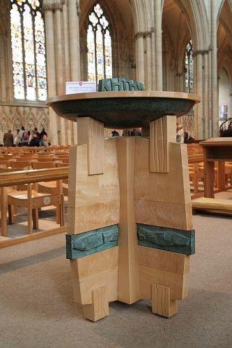 Modern Baptismal Font In York Minster Nave Church Furniture