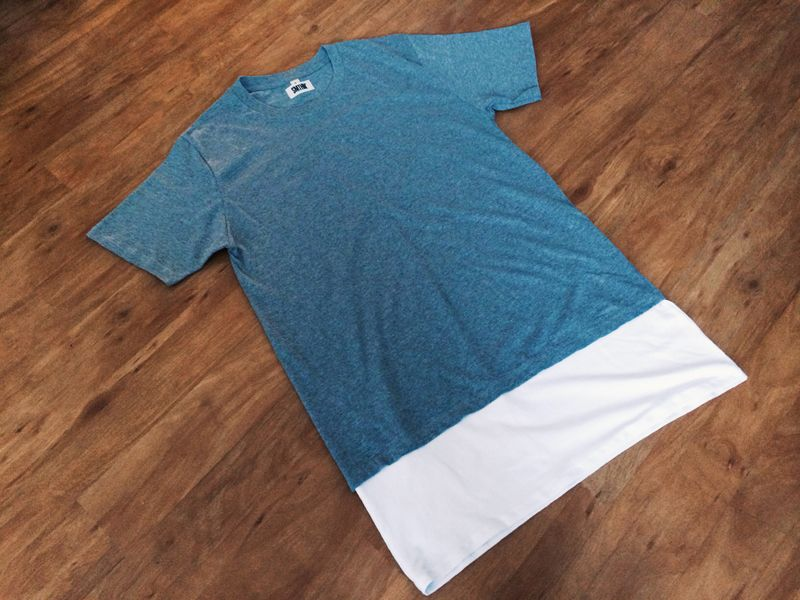 SMTHN Long Layered T-Shirt (Grey/White)